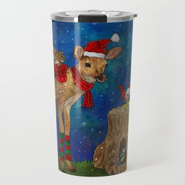 Christmas Tea Party Travel Mug