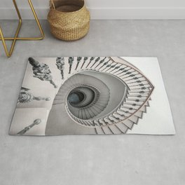 Pretty white spiral staircase Rug