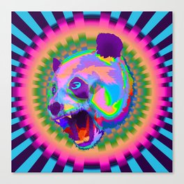 Prismatic Panda  Canvas Print