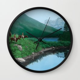 The Hunting Ground - Blackfoot American Indian Wall Clock