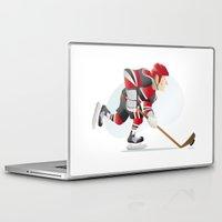 hockey Laptop & iPad Skins featuring Hockey by Dues Creatius