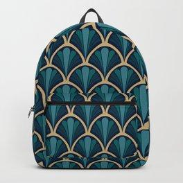 Vintage seashell tapestry - Deep water Backpack