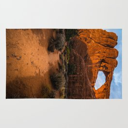 Path To Skyline Arch At Sunset - Moab, Utah Rug