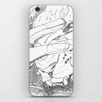 introvert iPhone & iPod Skins featuring Wild Introvert by BERLIN_D_P