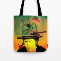 dylan Tote Bags featuring dylan by Mariana Beldi