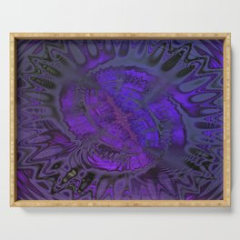 Passionate Purple Sanctuary by Dee Flouton Serving Tray