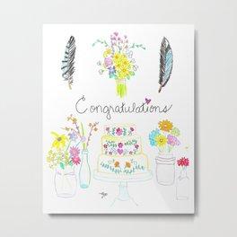 Congratulations Metal Print