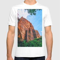 Red High Rock MEDIUM Mens Fitted Tee White
