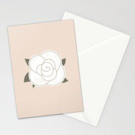 White vintage rose. Vector Illustration Stationery Cards