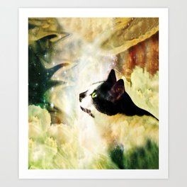 Gypsy Da Fleuky Cat and the Kitty Whisker Wishes Art Print