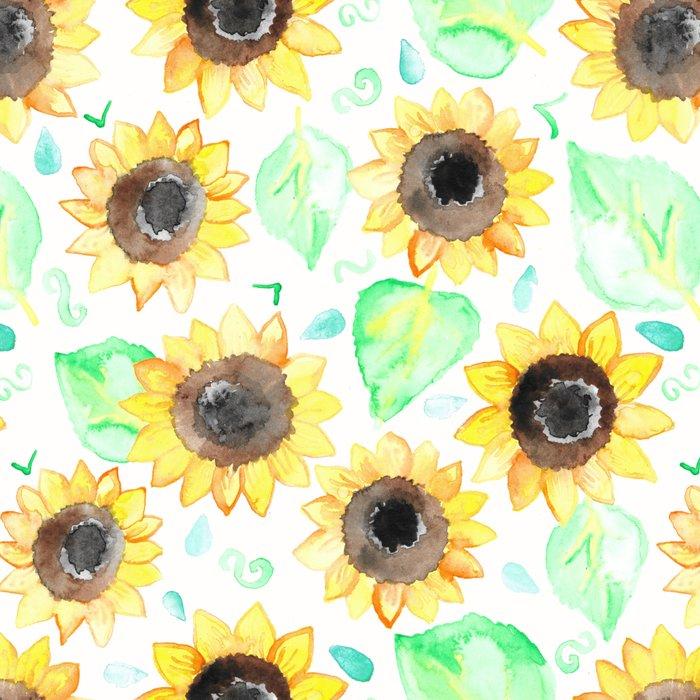 Cheerful Watercolor Sunflowers Leggings