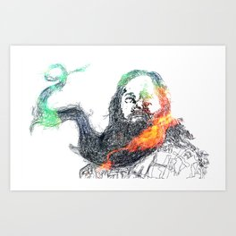 Richard Stallman and his Magnificant Beard Art Print