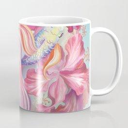 Pastel Fish Drawn Coffee Mug