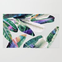 tropical Area & Throw Rugs featuring tropical #1 by LEEMO