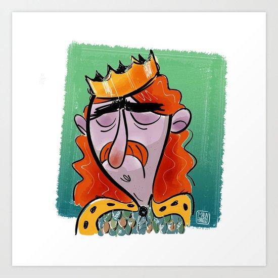 Fallen King Art Print