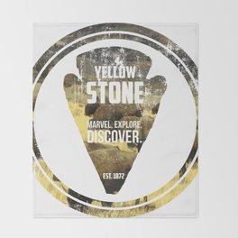 Yellow Stone Throw Blanket