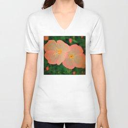 2 Tangerine Flowers | Flower | Nadia Bonello | Canada Unisex V-Neck