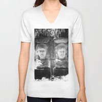 equality V-neck T-shirts featuring Equality by Sandy Broenimann