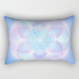 Light Frequency Mandala | Seed of Life Rectangular Pillow
