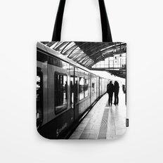 S-Bahn Berlin black and white photo Tote Bag