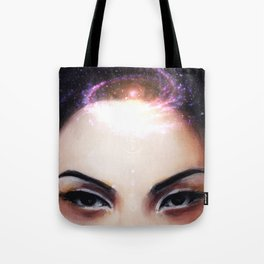 I Need My Space // Stars Galaxy Woman Girl Consciousness Awakening Soul Chakra Energy Healing Tote Bag