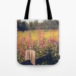 Fall Fireweed at Creamers Field, Fairbanks Alaska Tote Bag