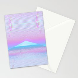 Neon Pyramids Stationery Cards