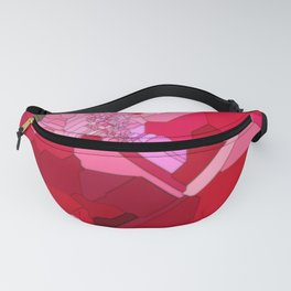 Red Abstract from a Geranium Fanny Pack