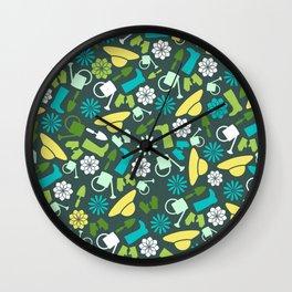 Spring Garden Print 2 Wall Clock