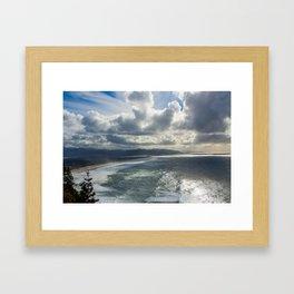 pacific coast beauty Framed Art Print