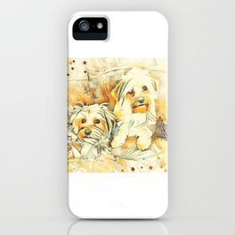 Penny and Copper Yorkie Mixes iPhone Case