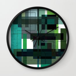 Green labyrinth Wall Clock