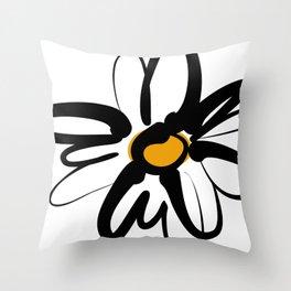 Doodle Daisy Throw Pillow