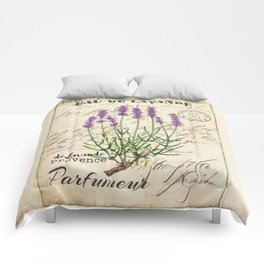 Lavender Antique Rustic Flowers Vintage Art Comforters