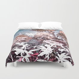 Frosty Transformation to Winter - An abstracted impression Duvet Cover