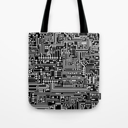 Circuit Board on Black Tote Bag