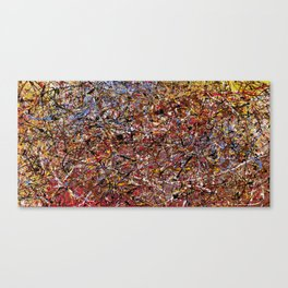 ELECTRIC 071 - Jackson Pollock style abstract design art, abstract painting Canvas Print