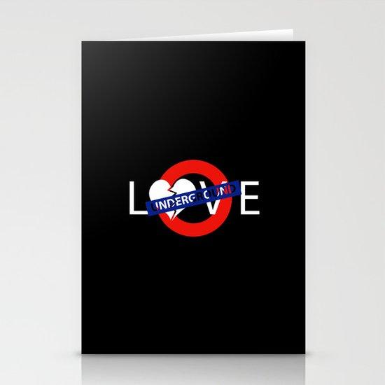 UNDERGROUND LOVE Stationery Cards