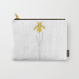 Mustard Iris Carry-All Pouch