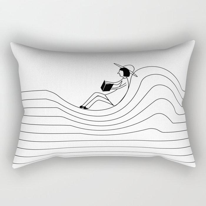 Reading in silence Rectangular Pillow