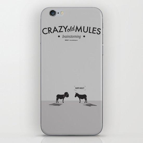 Crazy old Mule / Darth Mule iPhone & iPod Skin