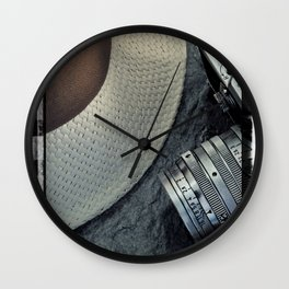 Leica and hat Wall Clock