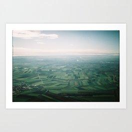 Austrian sky view  Art Print