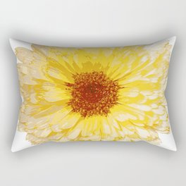 Beautiful Yellow Marigold Vector Isolated Rectangular Pillow