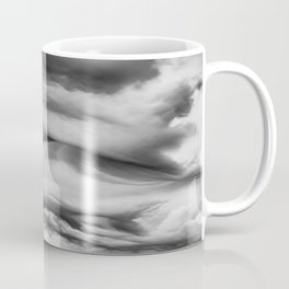 Structured Clouds - Black and White Coffee Mug