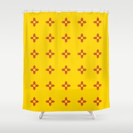 flag of new mexico 3 Shower Curtain