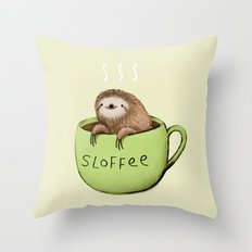 Sloffee Throw Pillow