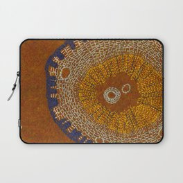 Growing - ginkgo - plant cell embroidery Laptop Sleeve