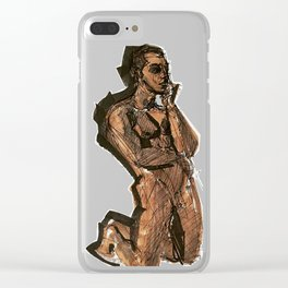 Thoughts That Require Nudity Clear iPhone Case