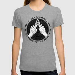 Me & Paranormal You - James Roper Design - Ouija B&W (black lettering) T-shirt
